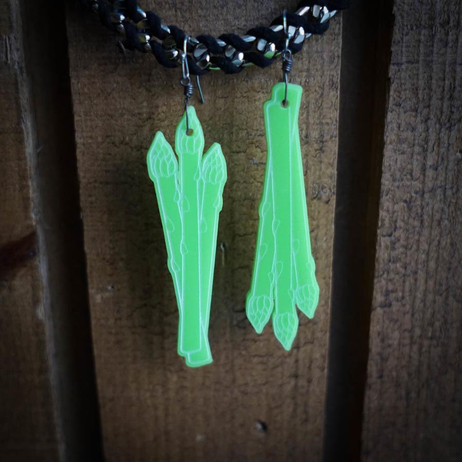 Asparagus Earrings ASPA-EAR-ALTGRE-B-L