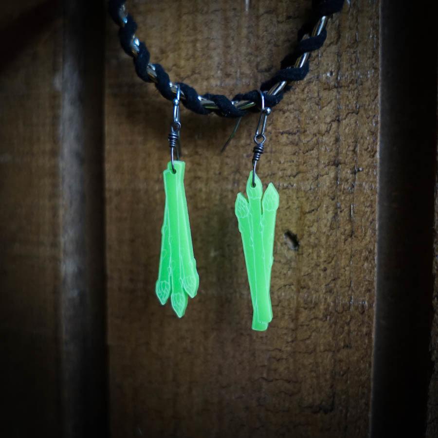 Asparagus Earrings ASPA-EAR-ALTGRE-B-M
