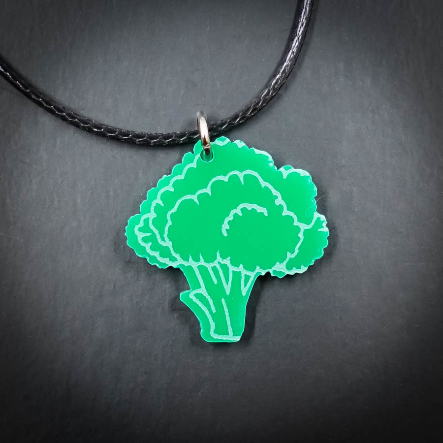 Broccoli Necklace BROC-NEC-AGRE-B-M