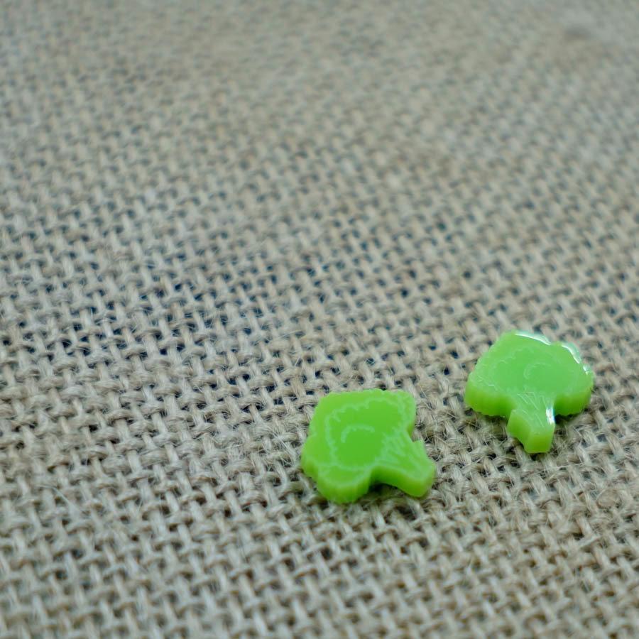 Cauliflower Green Earring Studs CAUL-EAR-ARED-B-STUD