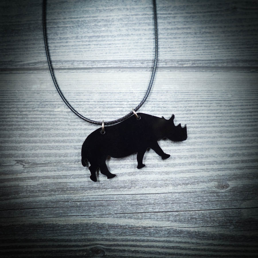 Rhino Black Necklace RHINO-NEC-ABLK-B-M