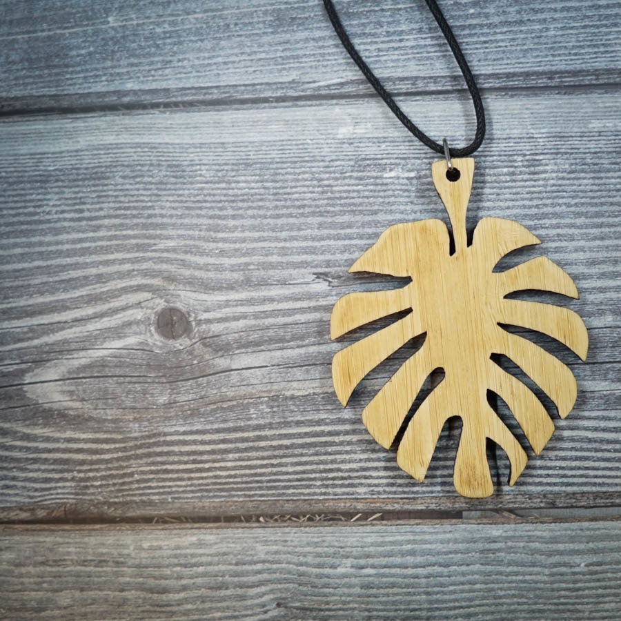 Leaf Bamboo Necklace