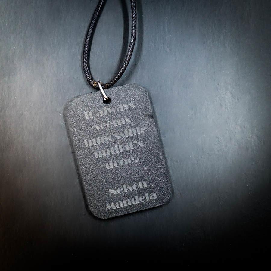 Nelson Mandela Quote Necklace
