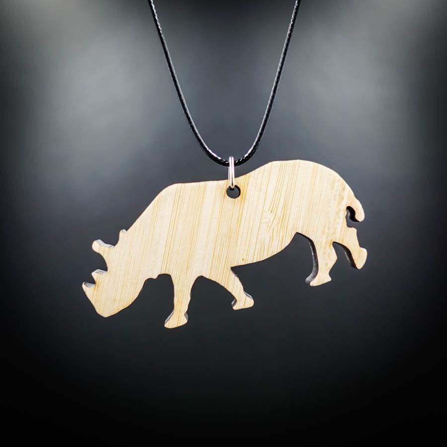 Rhino Bamboo Necklace