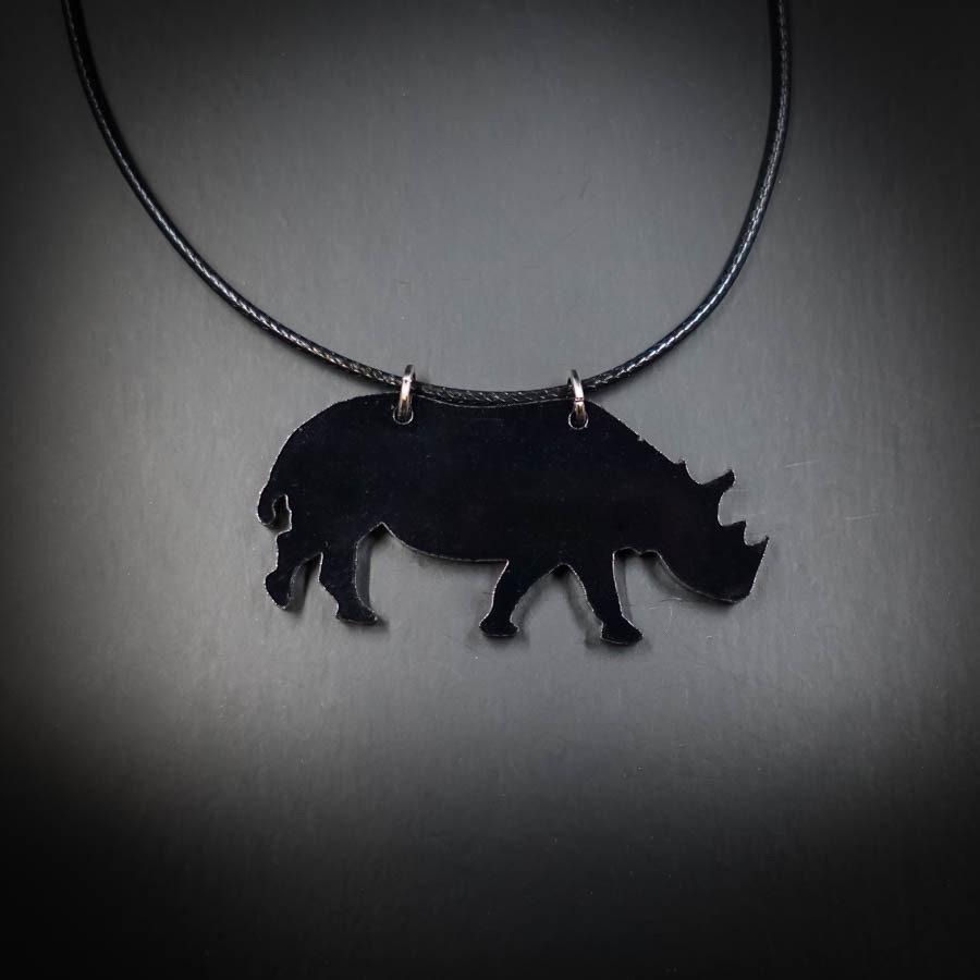 Rhino Black Necklace