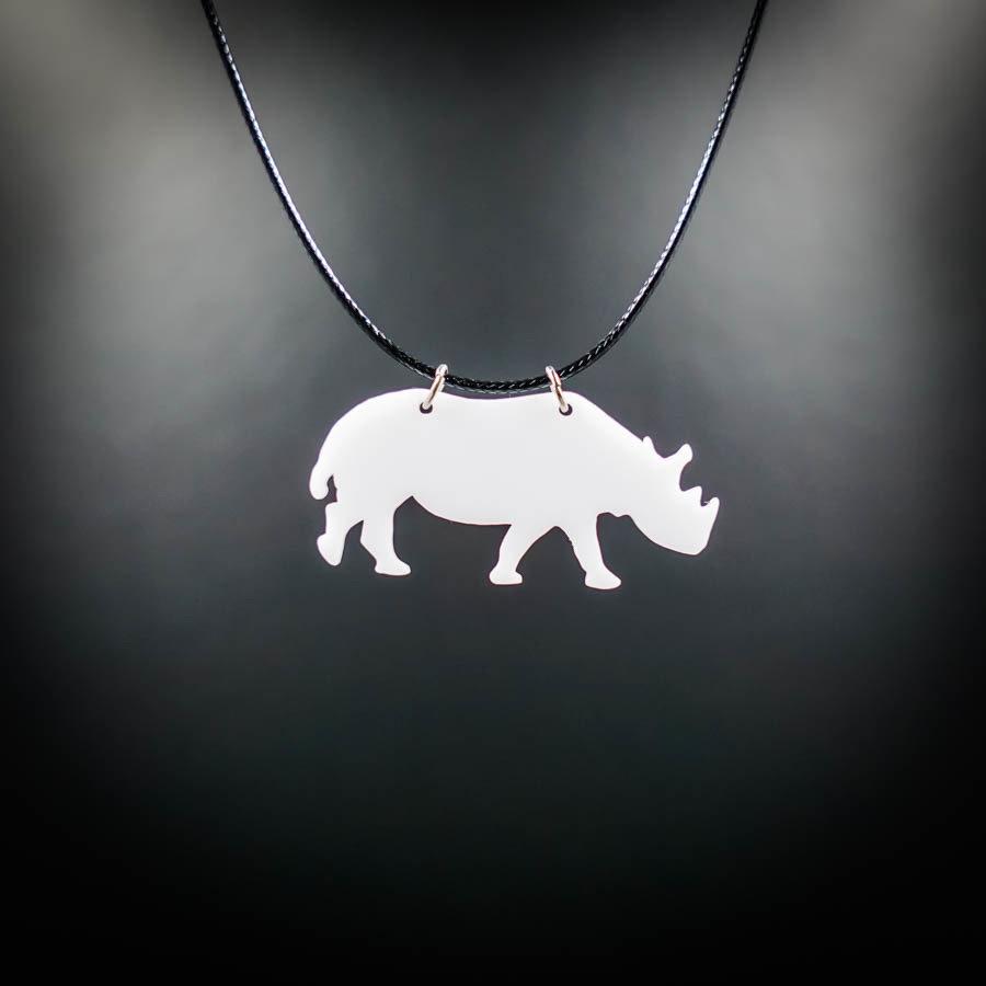Rhino White Necklace