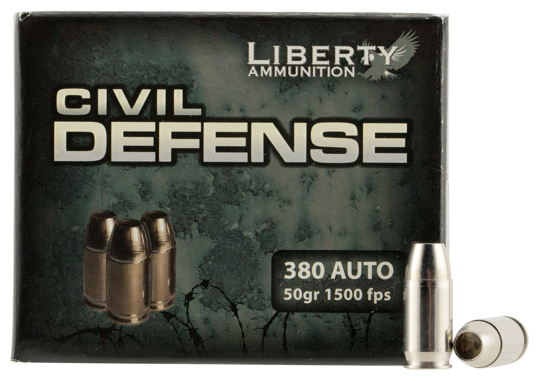 Liberty LA-CD-380-023 Civil Defense 380ACP 50GR LF Fragmenting HP 20Bx
