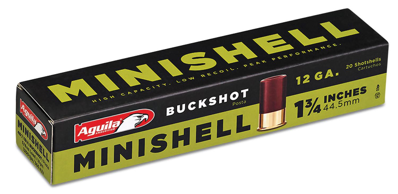 "Aguila 1CHB1288 Minishell 12 Gauge 1.75"" Buckshot 5/8 oz 00 Buck 20 Bx"
