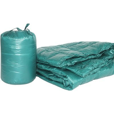 Double Black Diamond Packable Down Throw Peacock