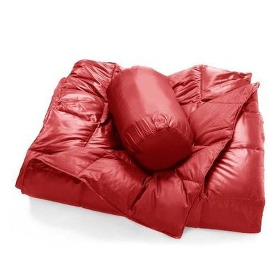 Double Black Diamond Packable Down Throw Ruby