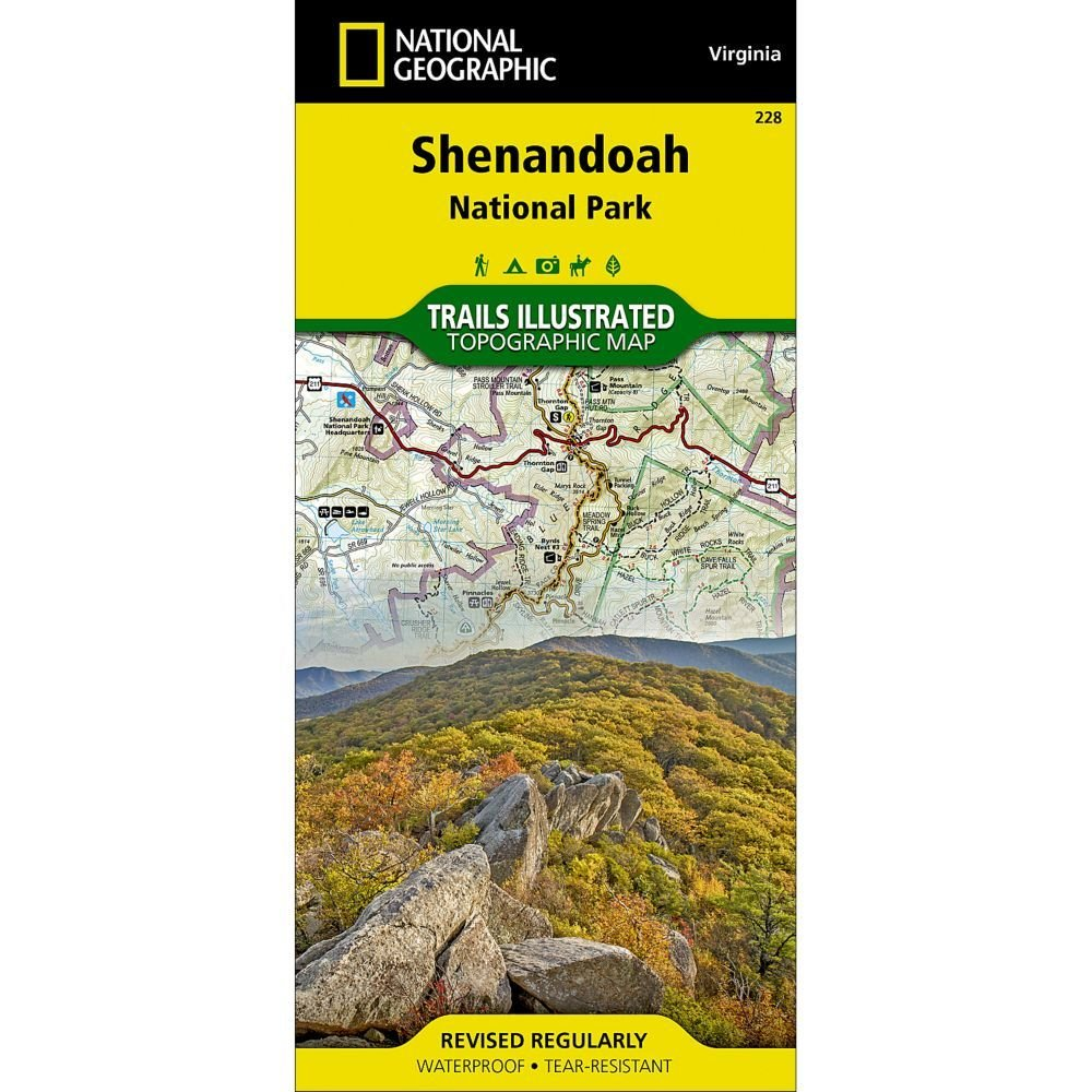 National Geographic # 228 Shenandoah National Park Trail Map