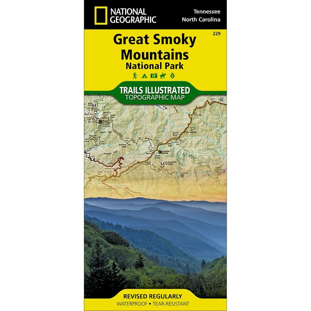 National Geographic #  229 Great Smoky Mountains National Park Trail Map