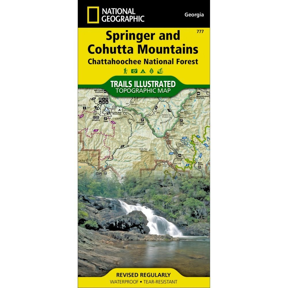 National Geographic # 777 Springer and Cohutta Mountains (Chattahoochee National Forest) Trail Map