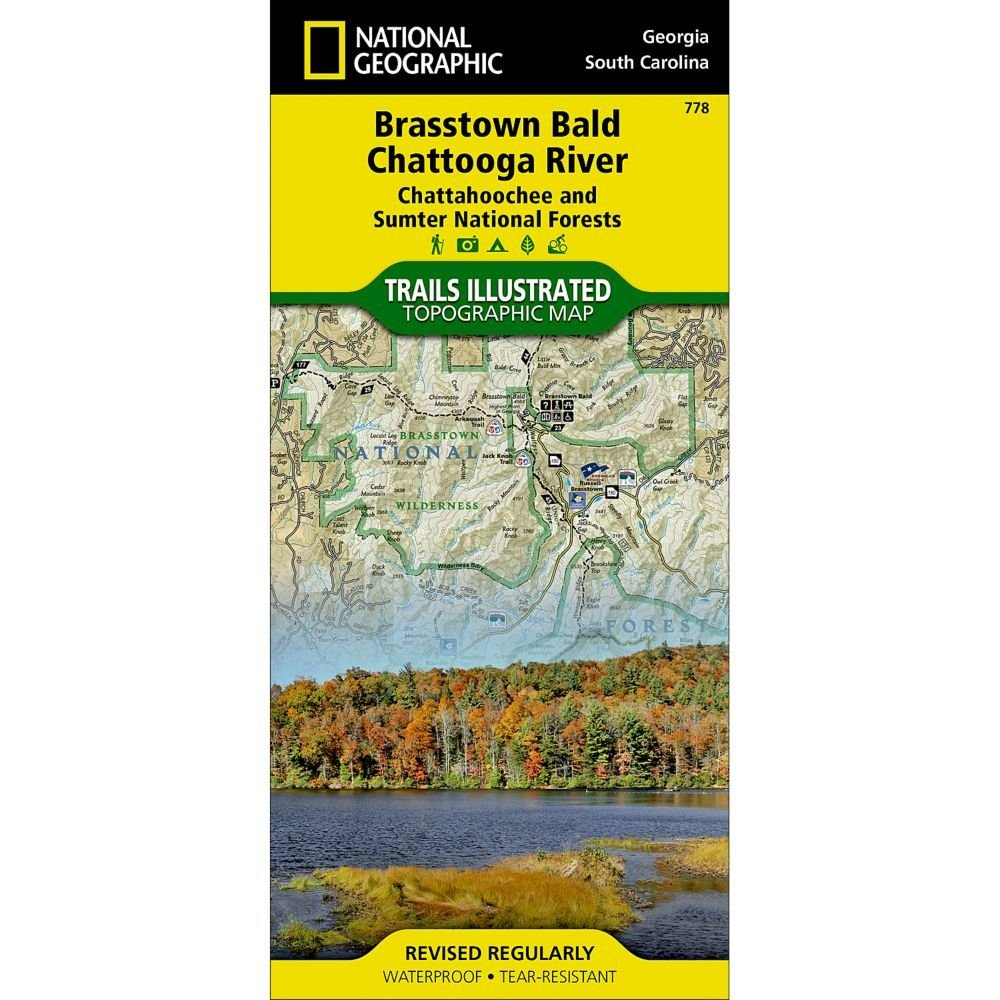 National Geographic #  778 Brasstown Bald, Chattooga River (Chattahoochee and Sumter National Forests) Trail Map