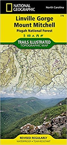National Geographic # 779 Linville Gorge, Mount Mitchell (Pisgah National Forest) Trail Map