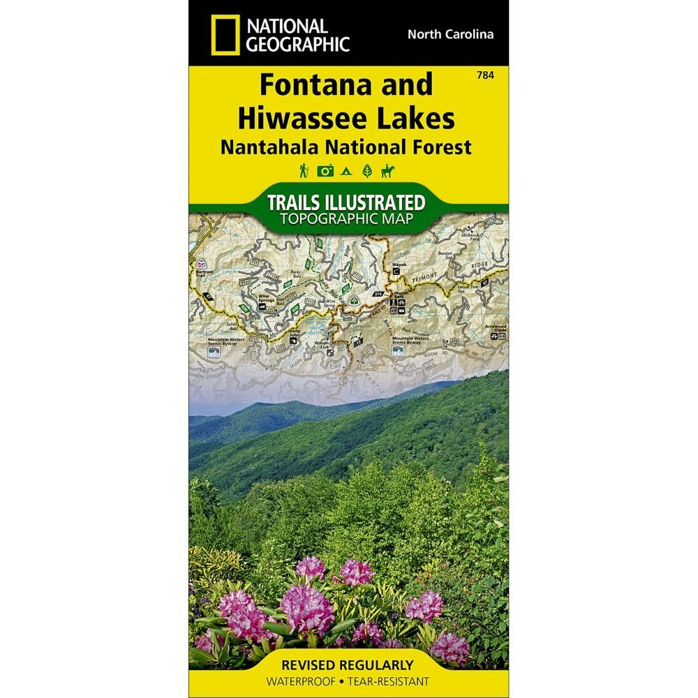 National Geographic # 784 Fontana and Hiwassee Lakes (Nantahala National Forest) Trail Map