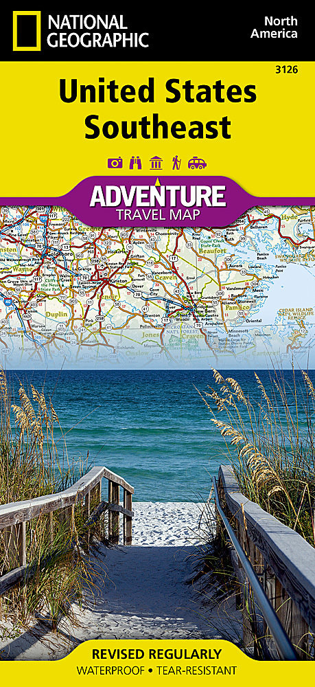 National Geographic Southeastern USA Guide Map