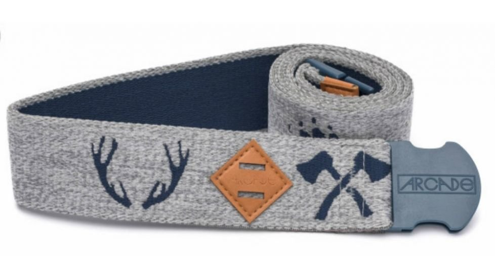 Arcade The Buckskin Belt – Navy / Grey
