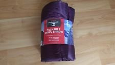 Double Diamond Packable Down Throw Wild Plum