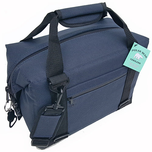 Polar-Bear-12-Pack-Nylon-Coolers Navy