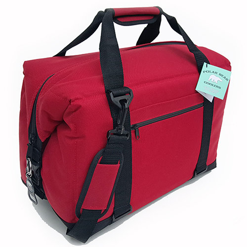 Polar Bear 24 Pack Nylon Cooler  red