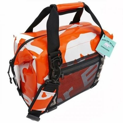 Polar Bear H20  Waterproof Cooler 12 Pack Orange