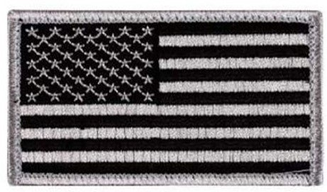 Appoutga's​ American Flag Patch (Silver And Black Flag)
