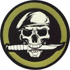 Appoutga's Military Skull Knife Morale Patch