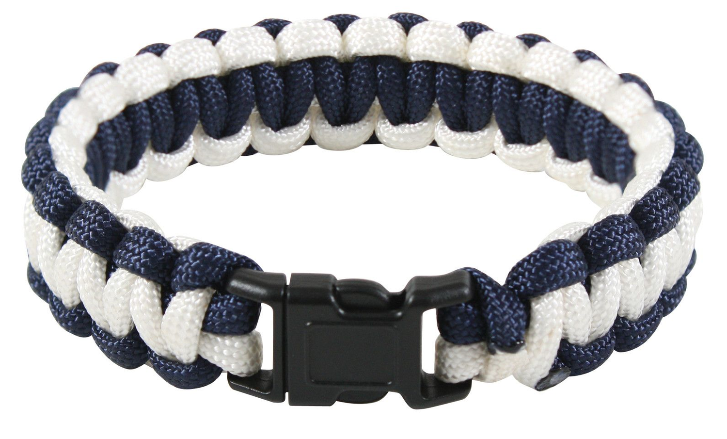 Rothco Two-Tone Paracord Bracelet Midnight Blue & White 937