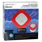 SoundLogic XT Splash Proof Speaker with Fm Radio & Carabiner  Red