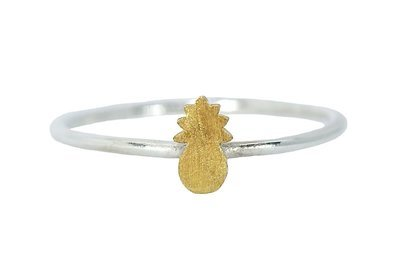 Pura Vida Pineapple Ring Silver