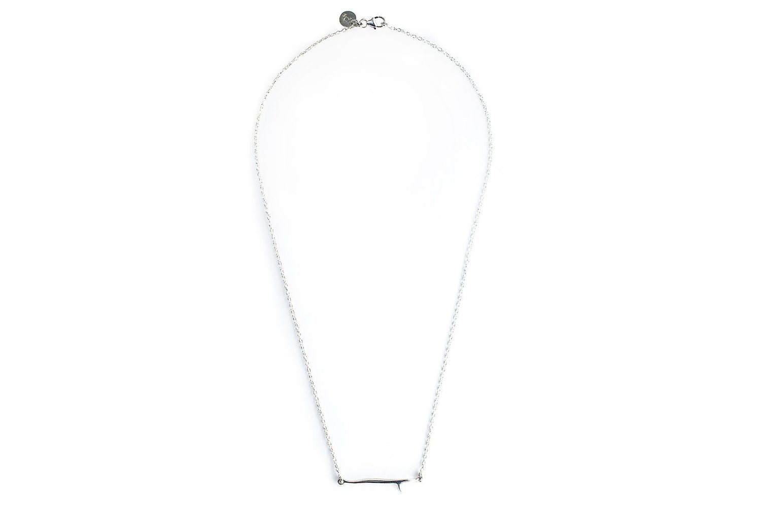 Pura Vida Surfboard Necklace Silver