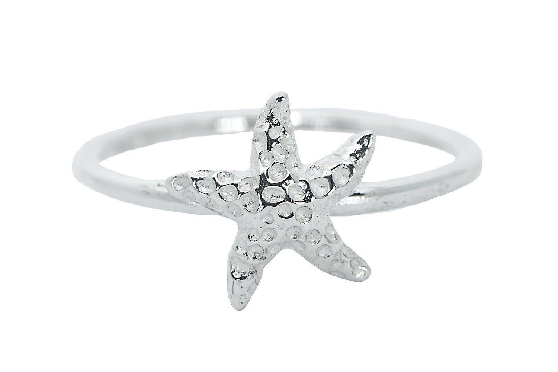 Pura Vida Silver Starfish Ring size 6