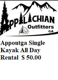 Appoutga Single Kayak All Day Rental