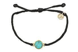 Pura Vida Gold Riveria Stone Black Bracelet