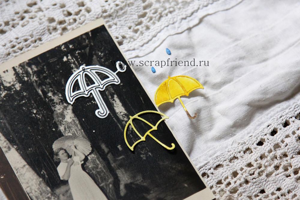 Набор ножей для вырубки Зонтик, 2,6х3см, Scrapfriend