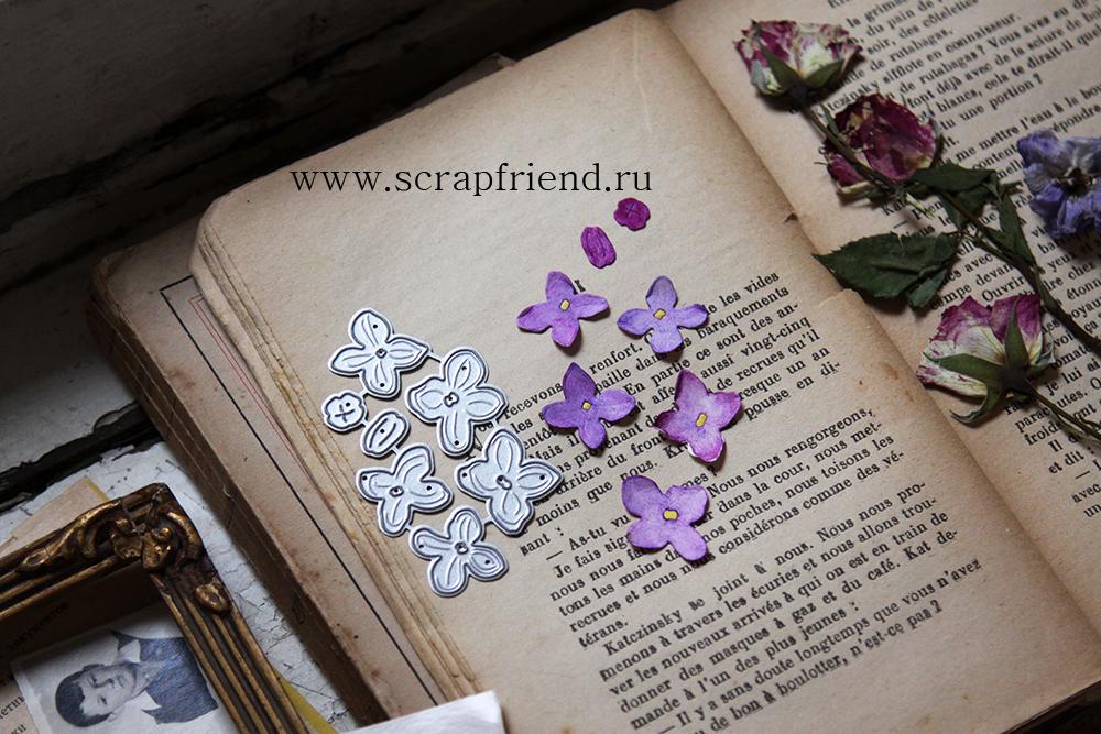 Набор ножей для вырубки Королевская сирень, Scrapfriend sf0151