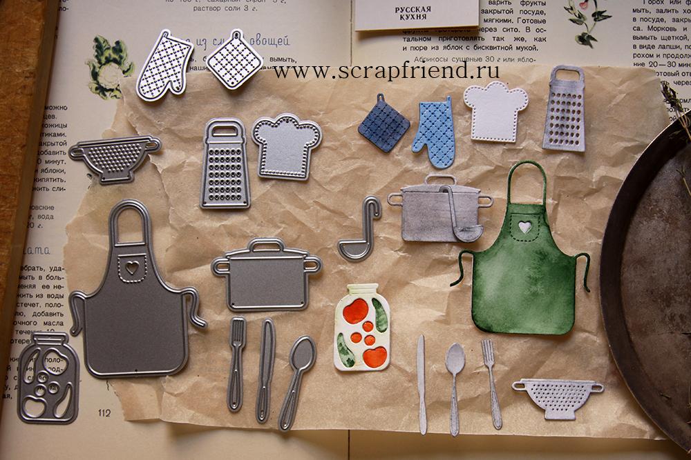 Набор ножей для вырубки Гретта - Первое, 12 штук, Scrapfriend sf0037-1