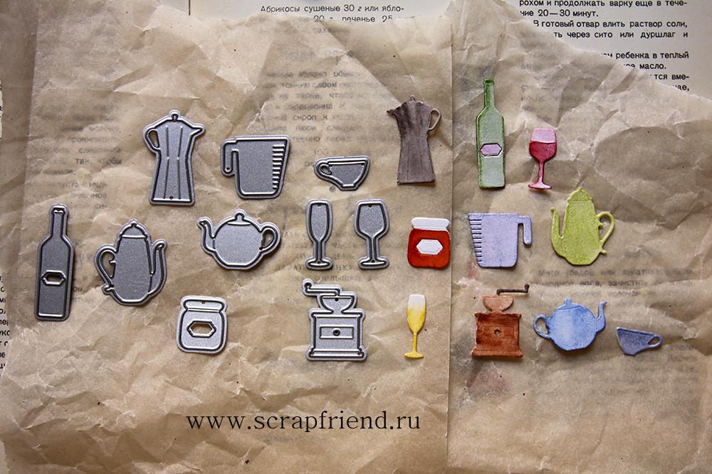Набор ножей для вырубки Гретта - Десерт, 10 штук, Scrapfriend