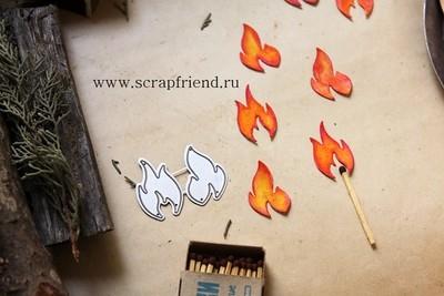 Dies Fire, 2pcs, 2x3 cm, Scrapfriend