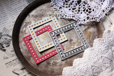 Dies Square mirror in the dressing room, 3 pieces, 5,5 cm, Scrapfriend