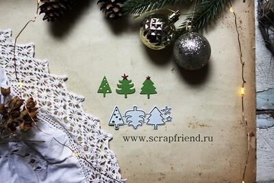 Набор ножей для вырубки Мини-елочки, Scrapfriend