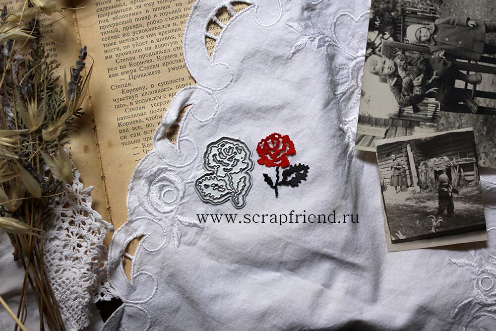 Dies Embroidery - Rose, 3,5x4 cm, Scrapfriend