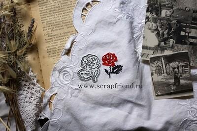 Набор ножей для вырубки Вышиванка - Роза, 3,5x4см, Scrapfriend