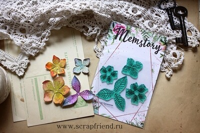 Stamps Flower veins, 4 pcs, Scrapfriend/Inmemstory