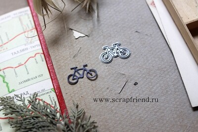 Нож для вырубки Иконка Велосипед, 2,2х1,2см, Scrapfriend