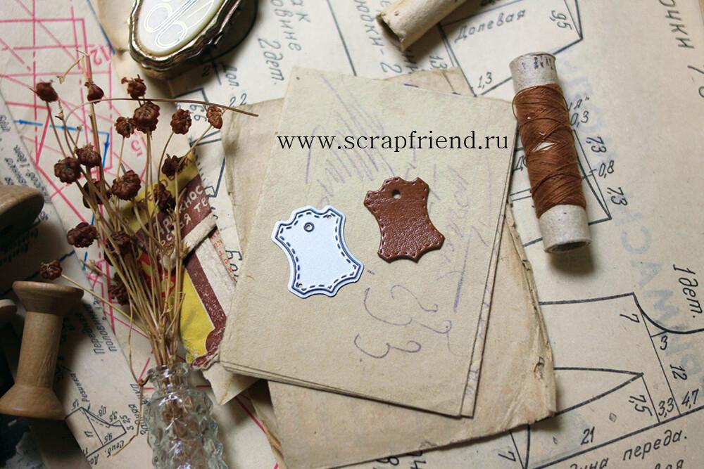 Die Icon Leather, 2x2,5 cm, Scrapfriend