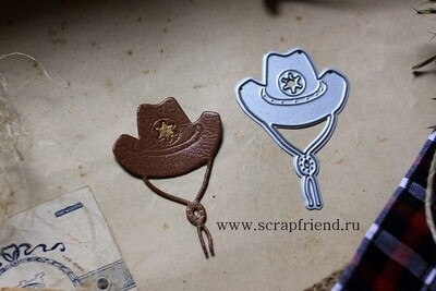 Нож для вырубки Ковбой - Шляпа, 4х5,5см, Scrapfriend