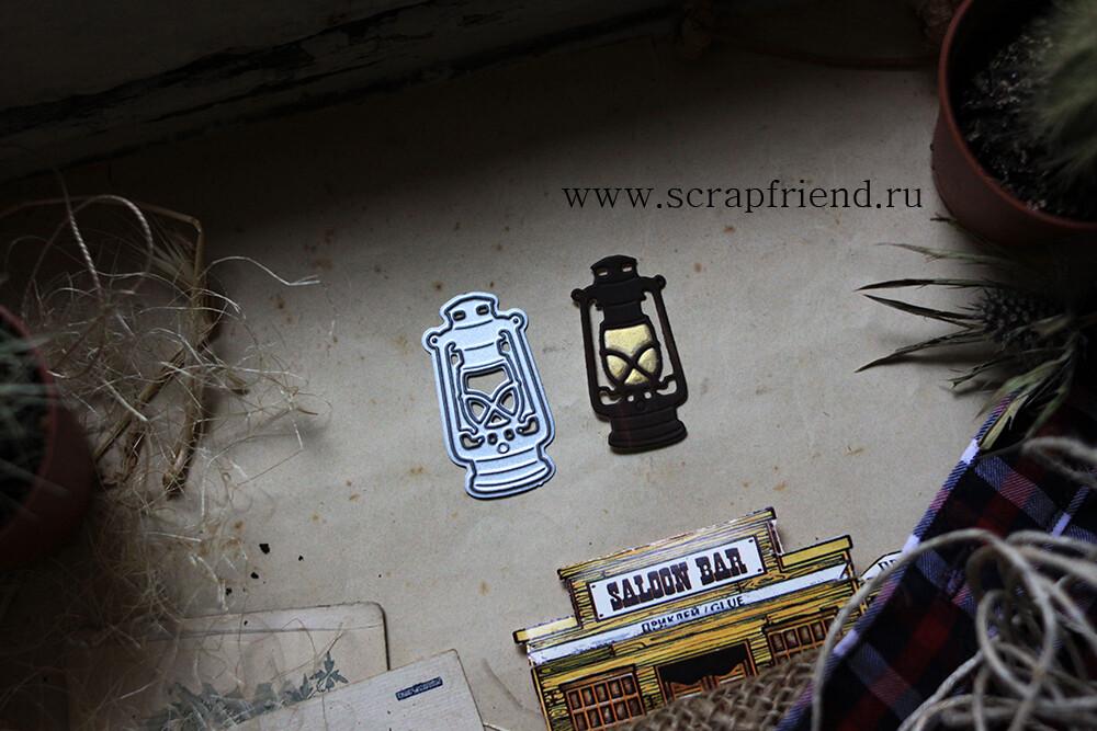 Нож для вырубки Ковбой - Фонарь, 2х4см, Scrapfriend
