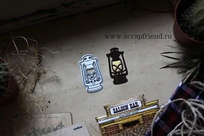 Die Cowboy - Lantern, 2x4 cm, Scrapfriend